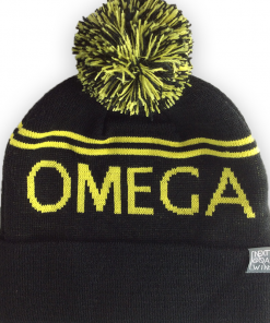 OH black bobble hat