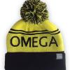 OH yellow bobble hat