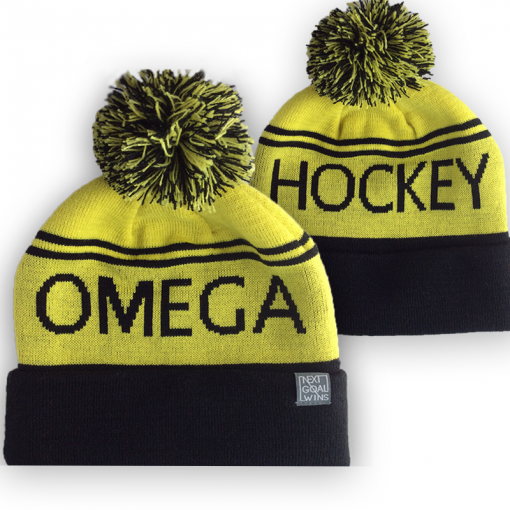 OH yellow bobble hat